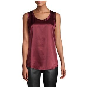 Lafayette 148 • burgundy silk sleeveless top